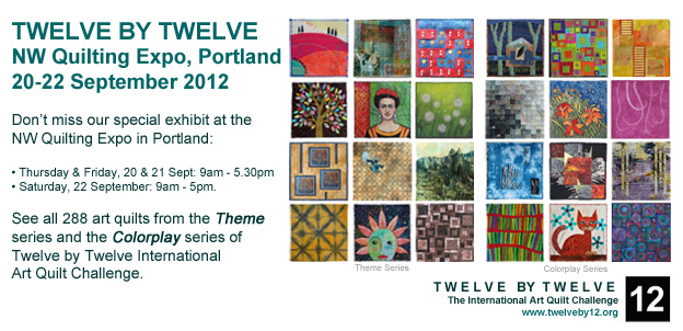 See Twelve by Twelve at the Northwest Quilting Expo!